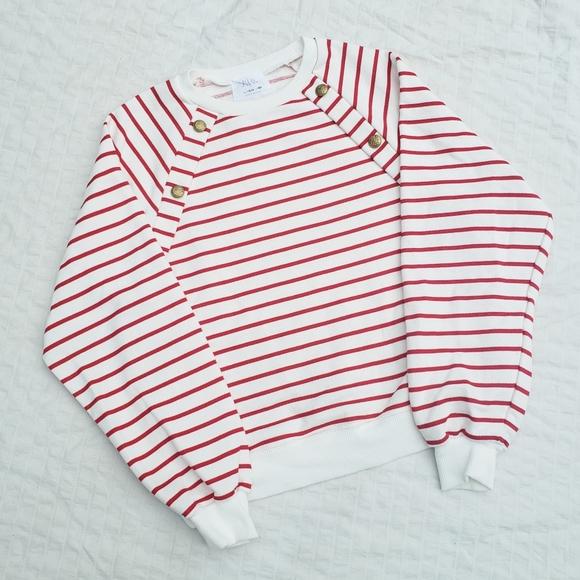 Zara Red Striped Sweater